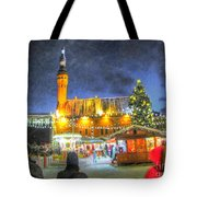 Yury Bashkin Tallinn New Year Tote Bag