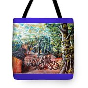 Thanks-giving In A Sacred Shrine Tote Bag