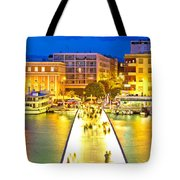 Zadar Colorful Blue Evening View Tote Bag
