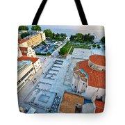 Zadar Forum Square Ancient Architecture Aerial View Tote Bag