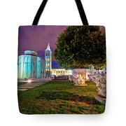 Zadar Historic Square Evening View Tote Bag