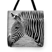 Zebra - Here It Is In Black And White Tote Bag