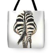 Zebra Back Tote Bag