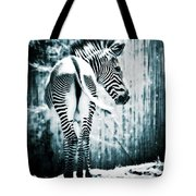 Zebra Blues  Tote Bag