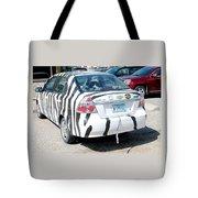 Zebra Car Rear Tote Bag