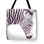 Zebra Colt Tote Bag