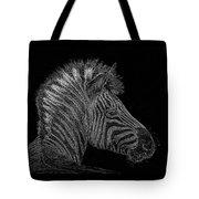 Zebra Computer Drawing Tote Bag