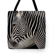 Zebra Head Tote Bag by Carlos Caetano
