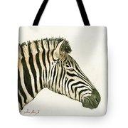 Zebra Head Study Painting Tote Bag