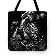 Zebra Hippocampus Tote Bag