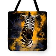 Zebra In Africa Tote Bag