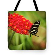 Zebra Long Wing Butterfly Tote Bag