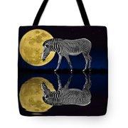 Zebra Moon Tote Bag