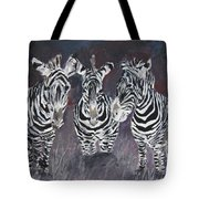 Zebra Oil Painting Tote Bag