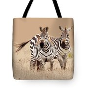 Zebra Pair Tote Bag