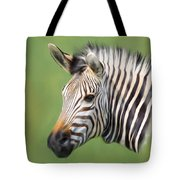 Zebra Portrait Tote Bag by Trevor Wintle