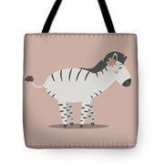 Zebra Posing Tote Bag