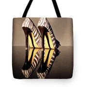 Zebra Print Stiletto Tote Bag