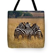Zebra Protect Each Other Tote Bag
