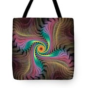 Zebra Spiral Affect Tote Bag