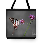 Zebra Swallowtail Butterfly With Verbena Tote Bag