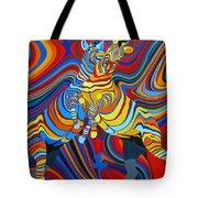 Zebradelic Tote Bag