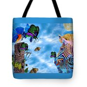 Zebras Birds And Butterflies Good Morning My Friends Tote Bag