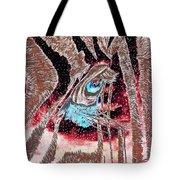 Zebras Eye - Abstract Art Tote Bag