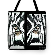 Zebras Eye - Studio Abstract  Tote Bag