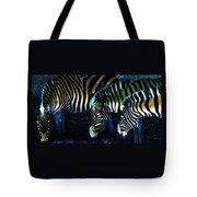Zebras Glow Tote Bag