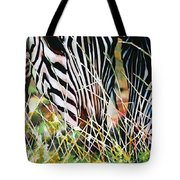 Zebras In The Grass Tote Bag