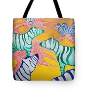 Zebras On The Plain Tote Bag