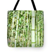 Zen Bamboo Forest Tote Bag