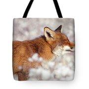 Zen Fox Series - Happy Fox IIn The Snow Tote Bag