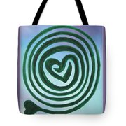 Zen Heart Labyrinth Sky Tote Bag