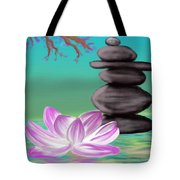 Zen Pool- Turquoise Tote Bag