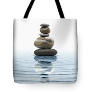 Zen Stones In Water Tote Bag