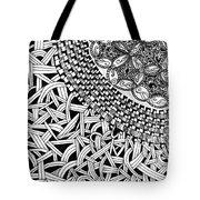 Zentangle Inspired Design Tote Bag