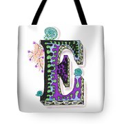 Zentangle Inspired E #4 Tote Bag