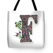 Zentangle Inspired F #1 Tote Bag