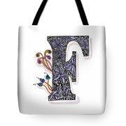 Zentangle Inspired F #2 Tote Bag