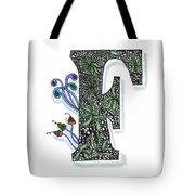 Zentangle Inspired F #3 Tote Bag