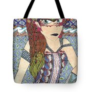 Zentangle Queen  Tote Bag