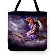 Zerolios - Bone Lighting Dragon Tote Bag