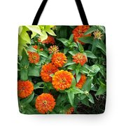 Zesty Zinnias Tote Bag