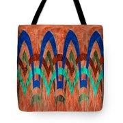 Zig Zag Pattern On Orange Tote Bag
