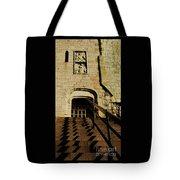 Zig Zag Shadows At Clifford's Tower, York, England Tote Bag