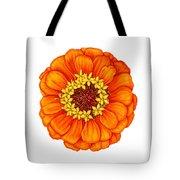 Zinnia In Orange Tote Bag