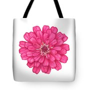Zinnia In Pink Tote Bag