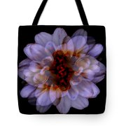 Zinnia On Black Tote Bag